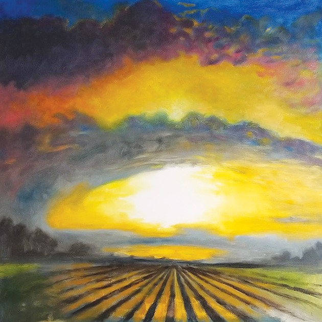 """""""Sunrise Over a Field"""" by J. Chris Johnson - PROVIDED"""