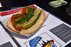 A Chicago Dog from Callahan's Chicago Dogs. - JACOB THREADGILL