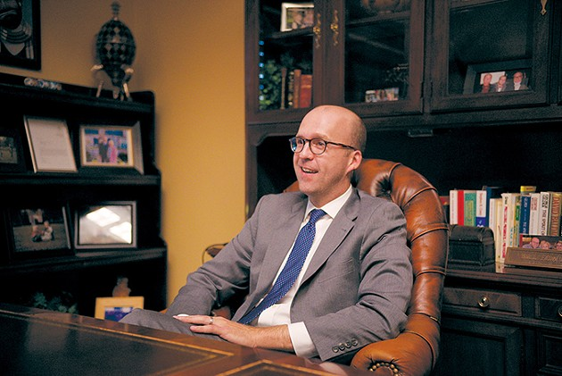 At 37, Jonathan Fowler is president of Fowler Holding Company, overseeing his family's car dealerships. - MEGAN CHERIE