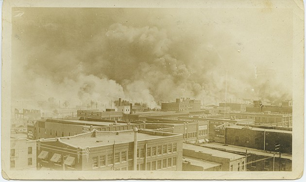 The burning of Greenwood. - TULSA  HISTORICAL SOCIETY & MUSEUM / PROVIDED