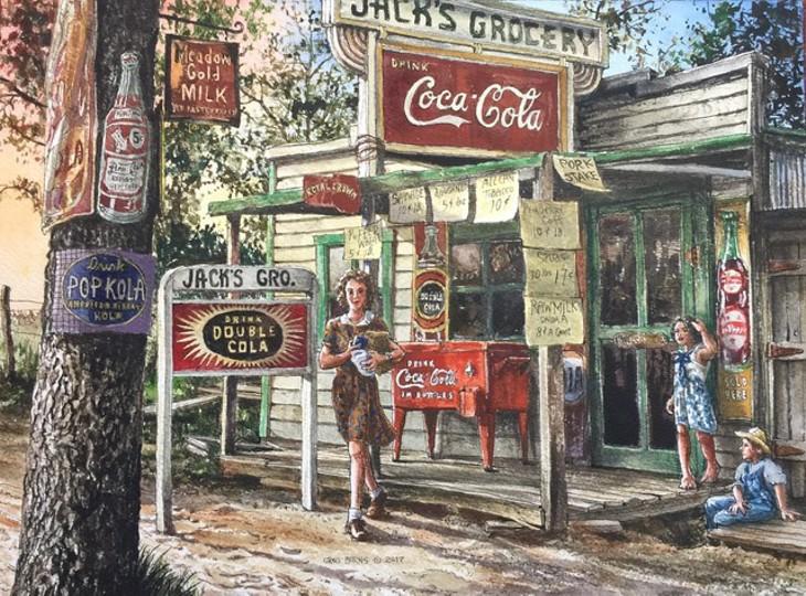 """Grocery"" by Greg Burns - GREG BURNS / OKLAHOMA HISTORY CENTER / PROVIDED"