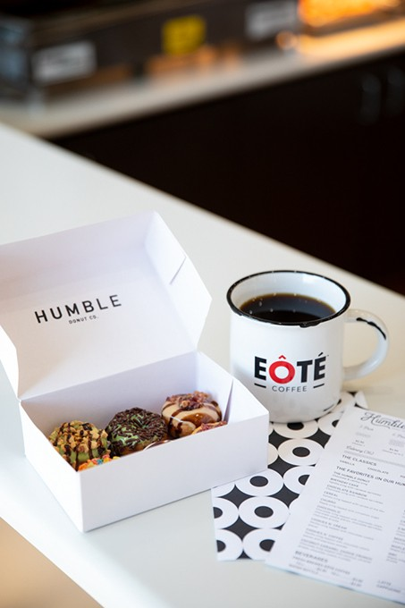 Humble Donut Co. has partnered with local coffee roaster EÔTÉ to provide its coffee service across the country. - PROVIDED
