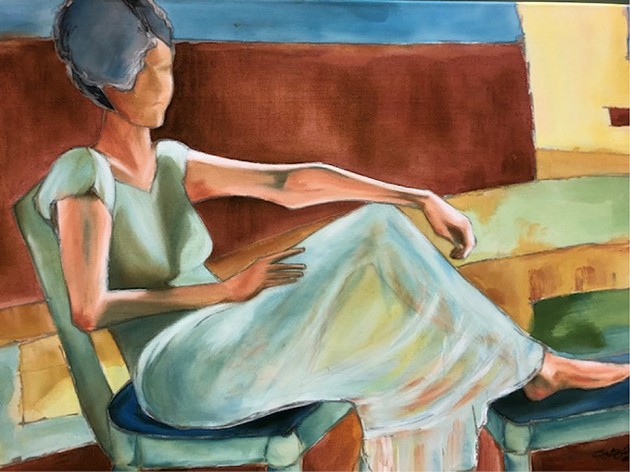 """Woman Lounging"" by Beth Wilhelm - PROVIDED"