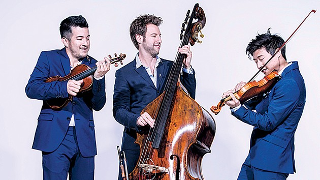 The 20th season of the Armstrong Performing Arts Series begins with a performance by string trio Time For Three Oct. 18. - ARMSTRONG INTERNATIONAL CULTURAL FOUNDATION / PROVIDED