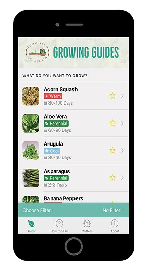 Seed to Spoon provides gardening tips, including planting dates in the United States based on the user's location. - JACOB THREADGILL