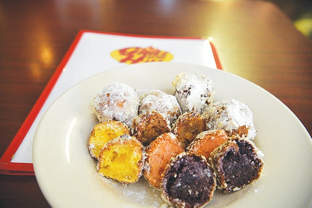 Fritter flavors include apple cinnamon, blueberry-lime, strawberry-pineapple and peach. - JACOB THREADGILL