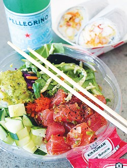 Poke Loco's build-your-own-bowl and spicy tuna are its most popular options. - PROVIDED