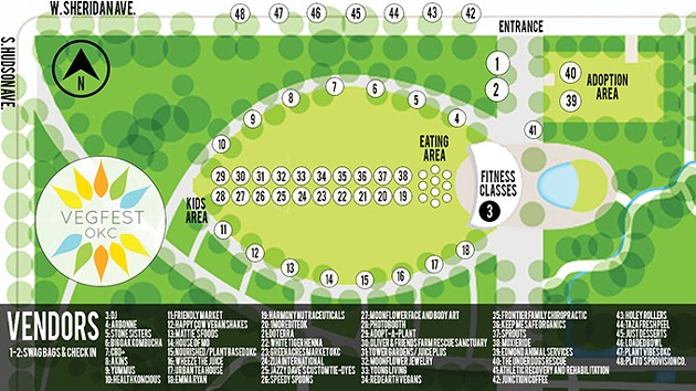 Vendor map of the OKC VegFest event - PROVIDED