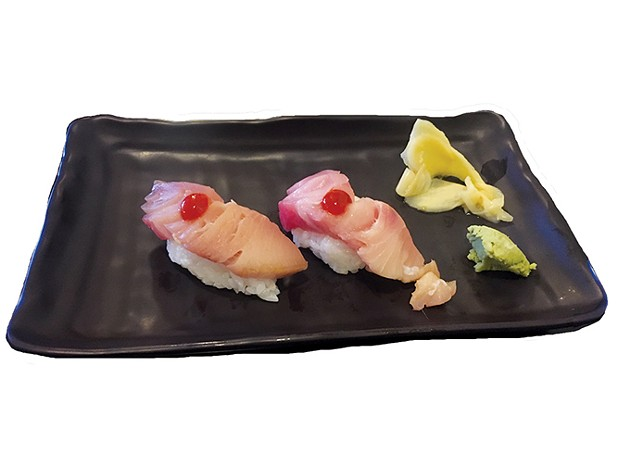 Yellowtail nigiri arrived uneven and with palate-obscuring Sriracha. - JACOB THREADGILL