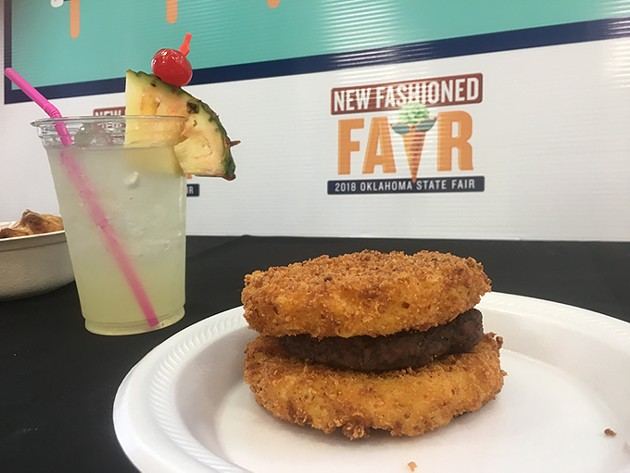 The mac 'n' cheese burger from Layne Conesssions won the New to the Scene category. - JACOB THREADGILL