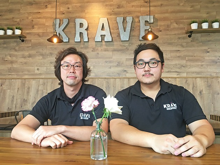 Jun Koo and David Kim are co-owners of Krave Teriyaki. - JACOB THREADGILL
