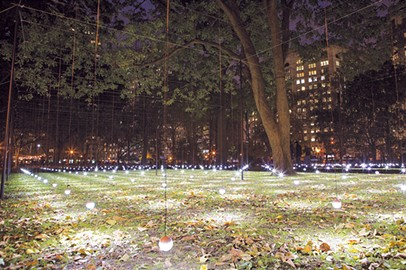 Whiteout, originally installed in Madison Square Park in New York City, will open in Campbell Art Park at NW 11th Street and Broadway Avenue on Oct. 11. Oklahoma Contemporary's exhibition of the Erwin Redl artwork will run through the end of March. - MOOREHART PHOTOGRAPHY / PROVIDED
