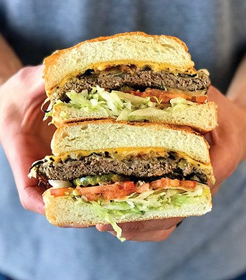 Tucker's Onion Burger added the plant-based Impossible Burger to its menu full-time this year. - PROVIDED