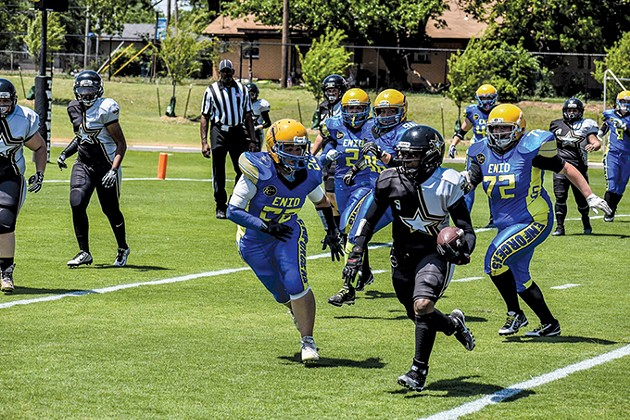 Oklahoma City Lady Force Football includes about 20 teammates who play games against other regional teams. - OKLAHOMA CITY LADY FORCE / PROVIDED
