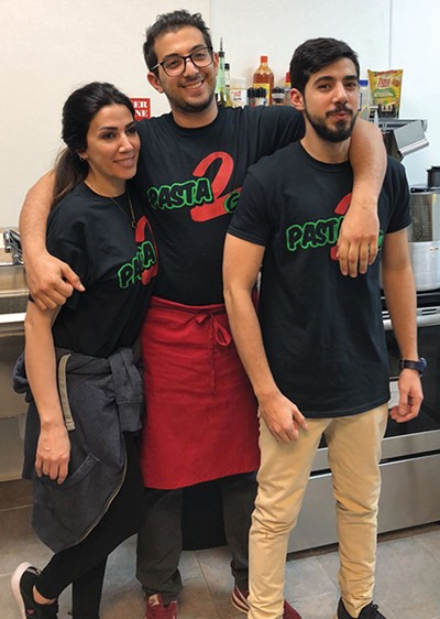Lina, Shadi and Omar Saleh run Pasta 2 Go along with Bassam Saleh. - PROVIDED