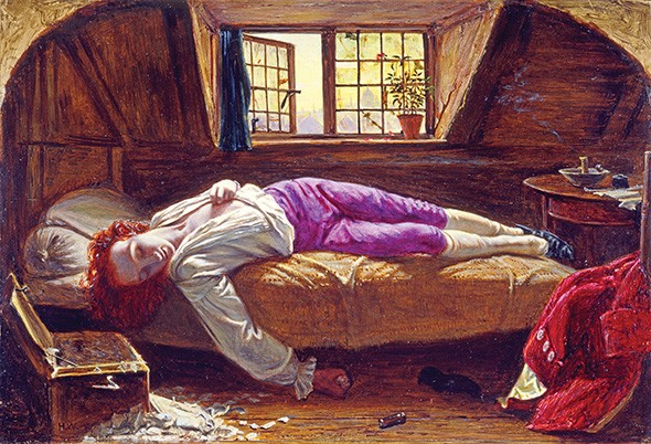 """""""The Death of Chatterton"""" by Henry Wallis - OKLAHOMA CITY MUSEUM OF ART / BIRMINGHAM MUSEUMS TRUST / PROVIDED"""
