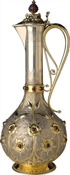 A claret jug designed by John Hardman Powell, manufactured by John Hardman & Co. - OKLAHOMA CITY MUSEUM OF ART / BIRMINGHAM MUSEUMS TRUST / PROVIDED