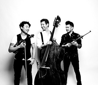 Time for Three bring their distinctive, hard-to-classify sound to Armstrong Auditorium on Thursday. - SHERVIN LAINEZ / PROVIDED
