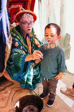 Children can create handmade costumes from paper and other natural and recycled materials at Magic Lantern 3-6:15 p.m. Sunday in the Paseo Arts District. - PAIGE POWELL / PROVIDED