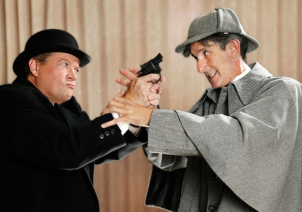 from left Tad Thurston and Don Taylor star in The Game's Afoot, playing through Dec. 9 at Jewel Box Theatre, 3700 N. Walker Ave. - PHOTO JAMES BECKEL / PROVIDED