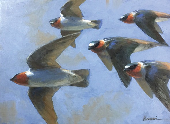 """""""Cliff Swallows"""" by Debby Kaspari - THE DEPOT GALLERY / PROVIDED"""