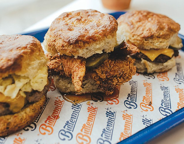 The chicken honey biscuit from Buttermilk. - ALEXA ACE