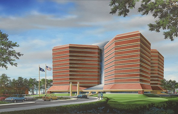 RGDC Inc., one of two architecture firms that worked on the detention center, had not designed a jail prior to creating this design. - GAZETTE / FILE