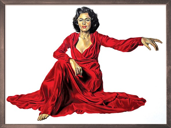"""The Red Dress (Dorothy Dandridge)"" by Robert Peterson - JRB ART AT THE ELMS / PROVIDED"