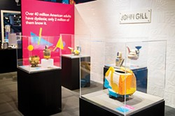 John Gill's ceramics are on on display at Beautiful Minds – Dyslexia and the Creative Advantage in smART Space at Science Museum Oklahoma through July 14, 2019. - PROVIDED