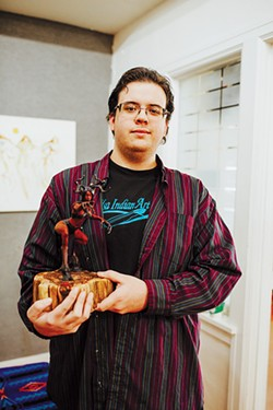 Dana Tiger's son Coleman Lisan Tiger Blair is a prestigious sculptor with a passion for teaching others. - ALEXA ACE