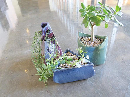 A trio of planters are some of the items at Oklahoma Contemporary Art Center's annual ceramics sale. - PROVIDED