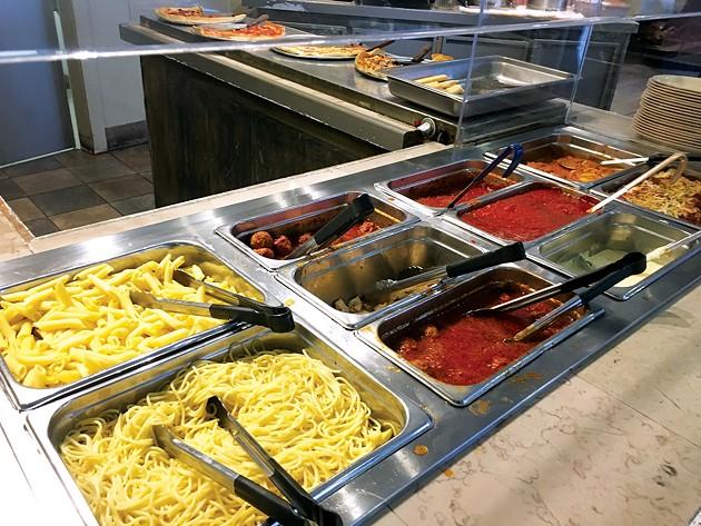Pasta options at Italian Express - JACOB THREADGILL