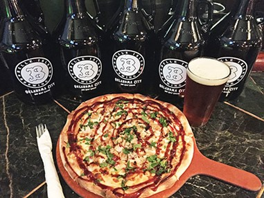 A barbecue chicken pizza from Belle Isle Restaurant & Brewery - THE HOUSE / PROVIDED