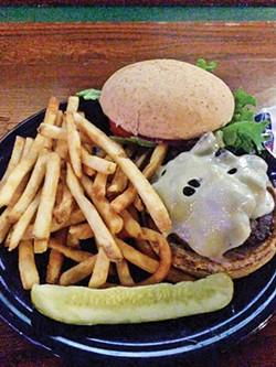 Mushroom and Swiss burger - JACOB THREADGILL