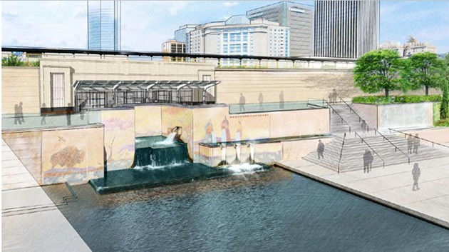 Plans for a tunnel from Bricktown to Santa Fe Station could be used at a later time but are now delayed in favor of enhancing current routes to the facility. - CITY OF OKLAHOMA CITY / PROVIDED