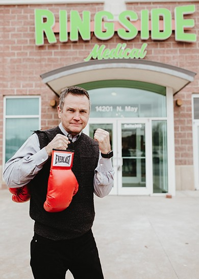 Sean O'Grady experimented with medical cannabis for boxing injuries and used his knowledge to open Ringside Medical. - ALEXA ACE