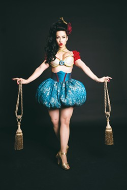 Sweetpea, an internationally headlining burlesque dancer based in Minneapolis, has been performing burlesque for 15 years and performs in Valentine's Affair on Saturday. - DENNIS DRISCOLL / PROVIDED