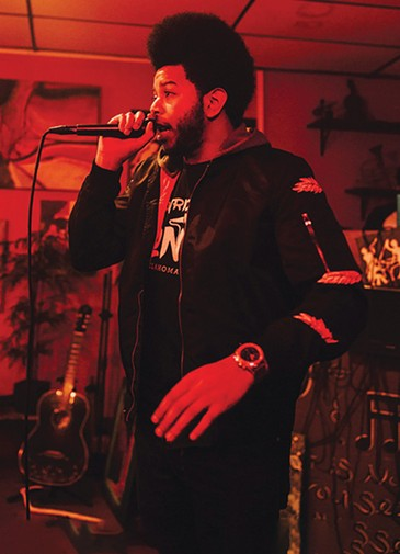 Christopher G. Acoff, AKA Original Flow, is working on a new album, which he describes as the sum total of everything he has experienced in his life from being a black child to growing up into a hip-hop artist. - ALEXA ACE