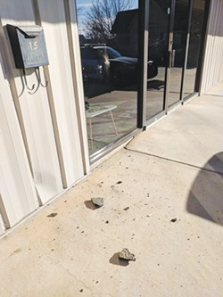 On Jan. 26, the doors to The Peak, 15 E. Fourth St., in Edmond, were pried open. A small amount of marijuana was stolen from the dispensary. - EDMOND POLICE DEPARTMENT / PROVIDED