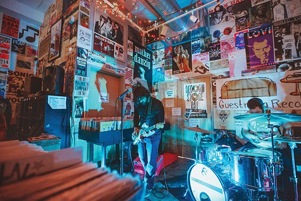 Colourmusic played an album release show at Norman's Guestroom Records earlier this month. - ALEXA ACE