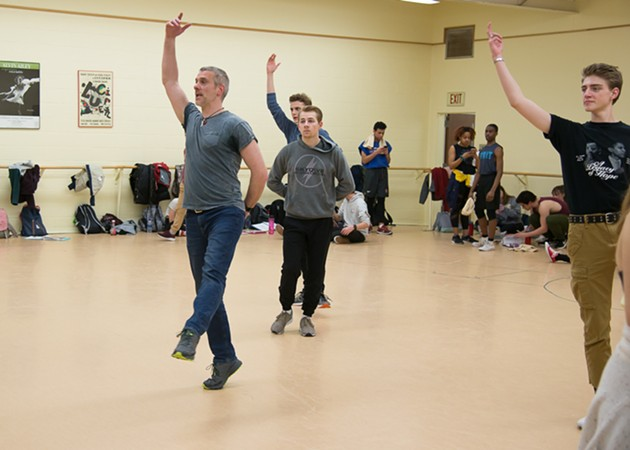 Guest director and choreographer Adam Cooper works with the cast of the University of Oklahoma theater department production of Grand Hotel, which runs Friday-Sunday at Elsie C. Brackett Theatre in Norman. - PROVIDED