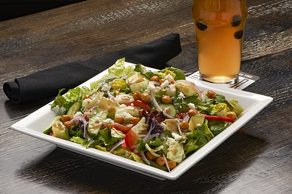 A new salad replaces croutons with fried chickpeas. - PROVIDED