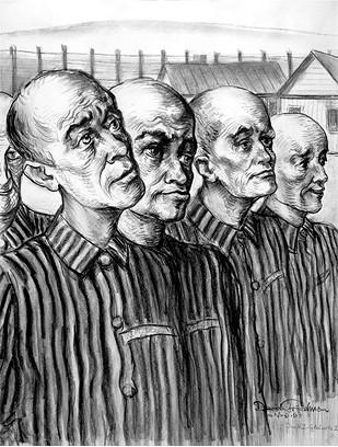 "David Friedman's ""Roll Call in Camp Gleiwitz I"" - FRED JONES JR. MUSEUM OF ART / PROVIDED"