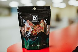 Mr. Mack's co-founders Erick Almaguer and Greg Wilson are trying to set the standard with product labeling for its line of edibles. - ALEXA ACE
