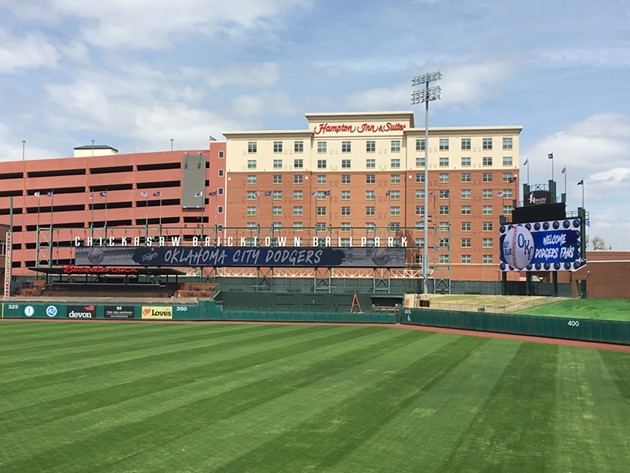 After a $2.5 million facelift, Chickasaw Bricktown Ballpark features a new field, LED lights and a lounge along the first baseline. - JACOB THREADGILL