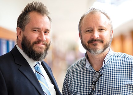 from left Chris Thomas will lead Classen SAS Middle School while Scot McAdoo will lead the high school. - MIGUEL RIOS