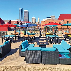 Whiskey Biscuit's patio hosts live jazz on the weekend. - PROVIDED