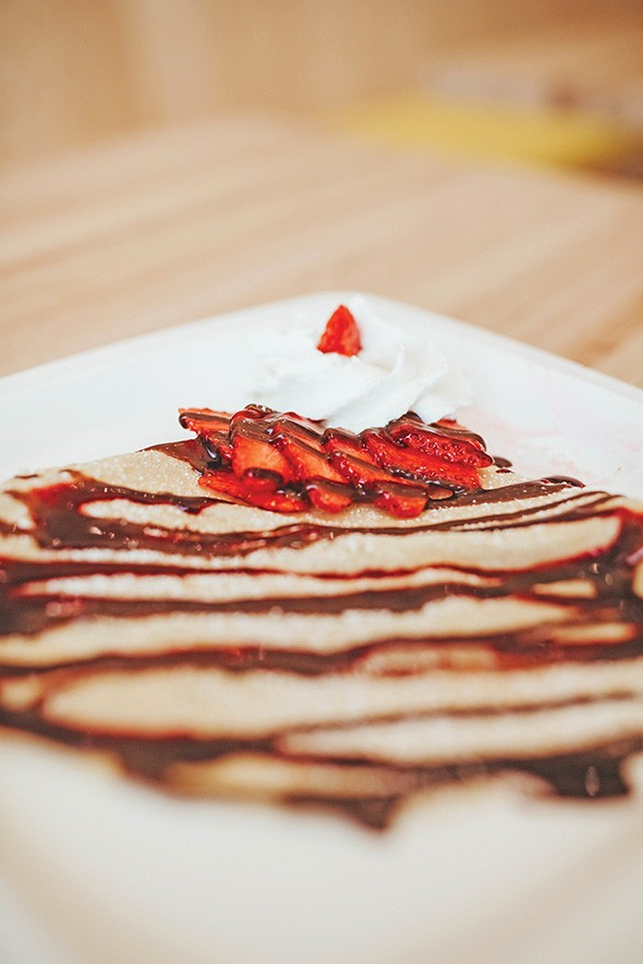 Dolci Paradiso makes its crêpe batter fresh every day. - ALEXA ACE