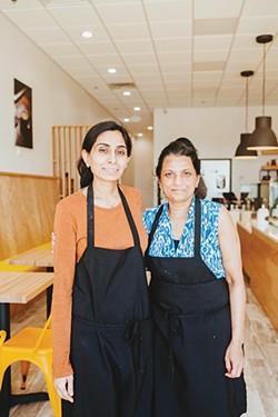 Hemangini Patel with her mother Asha at Dolci Paradiso - ALEXA ACE