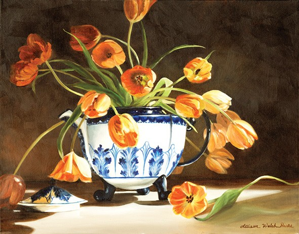 A painting by Allison Powers available at the Oklahoma Artists Invitational exhibit - IMAGE PROVIDED